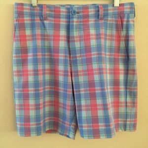 Vineyard Vines Breaker Performance Plaid Shorts 32